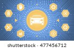 smart car interface.... | Shutterstock .eps vector #477456712