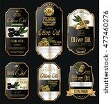 olive oil retro vintage gold... | Shutterstock .eps vector #477460276