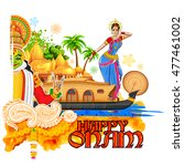 illustration of onam background ... | Shutterstock .eps vector #477461002