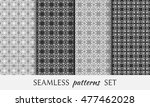 seamless geometric patterns set.... | Shutterstock .eps vector #477462028