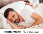 portrait of an upset young man... | Shutterstock . vector #477468862
