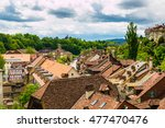 Red Tile Roofs Of Old Building...