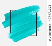 logo brush painted watercolor... | Shutterstock .eps vector #477471325