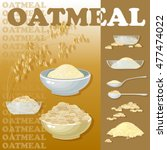 vector illustration with oat... | Shutterstock .eps vector #477474022