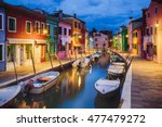 colourfully painted houses... | Shutterstock . vector #477479272