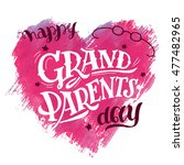 happy grandparents day. gift... | Shutterstock .eps vector #477482965