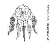 hand drawn doodle ink dream... | Shutterstock .eps vector #477484102