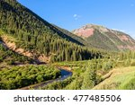 colorado mountain landscape in... | Shutterstock . vector #477485506