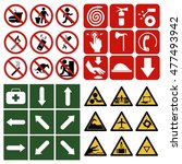 safety sign  mandatory sign ... | Shutterstock .eps vector #477493942