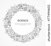 circle frame with scientific... | Shutterstock .eps vector #477494602