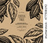 cocoa bean tree design template.... | Shutterstock .eps vector #477508192