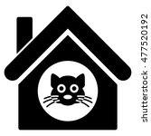 Cat House Icon. Vector Style I...