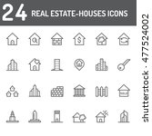real estate house icons | Shutterstock .eps vector #477524002