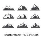 vector design of mountain... | Shutterstock .eps vector #477540085