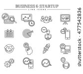 business and startup  line... | Shutterstock .eps vector #477542836