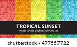 """square pattern set """"tropical...   Shutterstock .eps vector #477557722"""