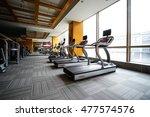 fitness club in luxury hotel...   Shutterstock . vector #477574576