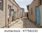 narrow street of itchan kala...   Shutterstock . vector #477582232