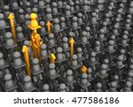 crowd of small symbolic figures ... | Shutterstock . vector #477586186