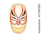 traditional japan mask kabuki... | Shutterstock . vector #477587002