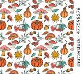 hand drawn seamless pattern... | Shutterstock .eps vector #477598276