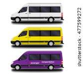passenger vans and minivans. | Shutterstock .eps vector #477599272
