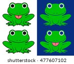 vector set of green cartoon... | Shutterstock .eps vector #477607102