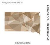 south dakota state map in... | Shutterstock .eps vector #477609595