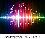 color spectrum pulse with... | Shutterstock .eps vector #47761750