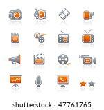multimedia web icons   ... | Shutterstock .eps vector #47761765