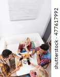 young people using smart phone... | Shutterstock . vector #477617992