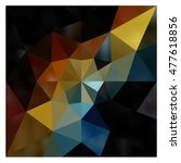 low polygon triangle pattern... | Shutterstock . vector #477618856