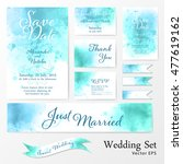 wedding set in watercolor style. | Shutterstock .eps vector #477619162