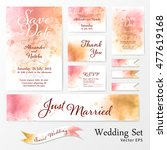wedding set in watercolor style. | Shutterstock .eps vector #477619168