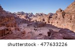 view down over petra. the... | Shutterstock . vector #477633226