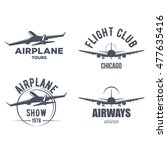 airplane emblems collection for ... | Shutterstock .eps vector #477635416