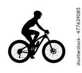 Cyclist On A Mountain Bike....
