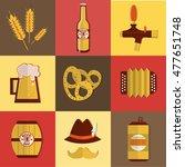 beer fest oktoberfest icon set... | Shutterstock .eps vector #477651748