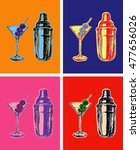 set of colored martini... | Shutterstock .eps vector #477656026