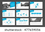 blue elements for infographics... | Shutterstock .eps vector #477659056