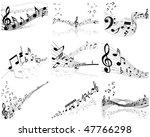vector musical notes staff...   Shutterstock .eps vector #47766298