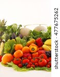 fresh fruits and vegetables | Shutterstock . vector #477675262