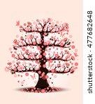 decorative beautiful cherry... | Shutterstock .eps vector #477682648