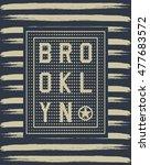 brooklyn sport typography  t... | Shutterstock .eps vector #477683572