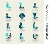 logo letter l. element and... | Shutterstock .eps vector #477700792