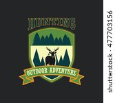 hunting club badge   Shutterstock .eps vector #477703156