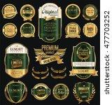 retro vintage golden frames and ... | Shutterstock .eps vector #477703252