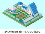 vector illustration isometric... | Shutterstock .eps vector #477704692