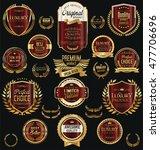 golden sale labels retro... | Shutterstock .eps vector #477706696