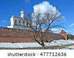 view the wall of the novgorod... | Shutterstock . vector #477712636